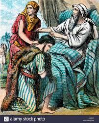 bible stories illustration of rebekah and jacob u0027s deception of