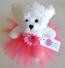 personalized flower girl princess tutu teddy in custom colors