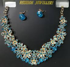 necklace blue stone images Blue stone necklace at rs 250 piece m s eminence traders jpg