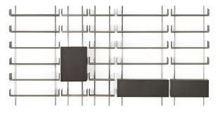 wall mounted bookcase modular contemporary wooden brera by