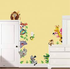 chambre enfant savane stikers chambre enfant sticker animaux de la savane pour