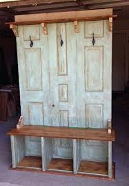 bench entry with storage and coat rack country entrance regarding