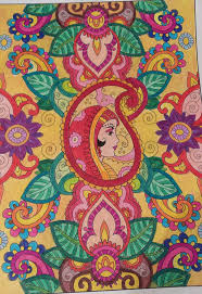creative mehndi designs coloring book page 1 by puja723 on
