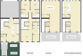 3 storey house plans 3 story house plans three narrow lot modern philippines soiaya