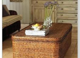 Wicker Storage Ottoman Coffee Table Wicker Storage Table Wicker Coffee Table With Storage Wicker