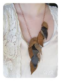leather leaf necklace images 20 diy fall and halloween jewelry projects my girlish whims jpg