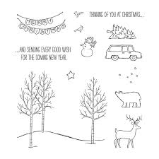 white christmas with polar bear stamp with jodi