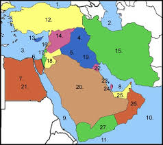 middle east map water bodies things in the middle east quiz by sitsaln