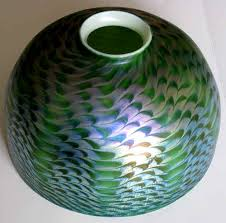 Tiffany Favrile Glass Vase Tiffany Desk And Favrile Lamps Damascene Shades And Glass