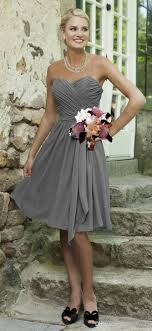silver grey dresses wedding simple cheap silver grey bridesmaid dresses knee length chiffon