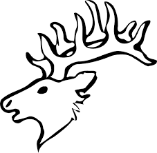 simple reindeer head silhouette