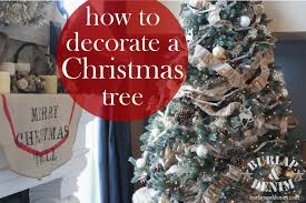 how to decorate a christmas tree burlap u0026 denimburlap u0026 denim
