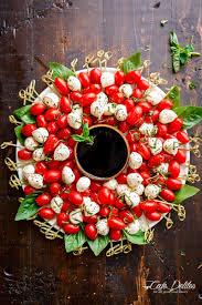 caprese salad christmas wreath cafe delites