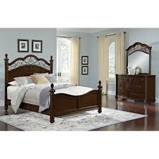 Value City Bedroom Furniture Monticello Pecan Derbyshire Pc King - City furniture white bedroom set