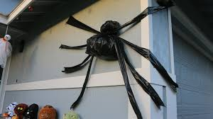 diy trash bag halloween spider super easy youtube