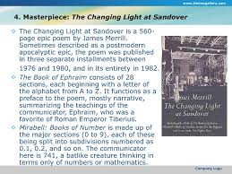 the changing light at sandover chapter 20 postwar poetry poets of the 1940s generation ppt download