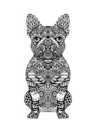 mandala frenchie art print printing zentangle coloring