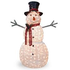 Lighted Snowman Outdoor Decoration by Snowman Outdoor Decorations Qr4 Us