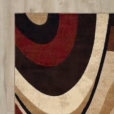 red brown rug gy mat teal blue cream brown modern next style swirl