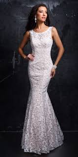 white lace prom dress canacci sleeveless sequin and lace prom dress canacci