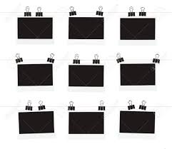 photo hanging clips three rows of three blank pieces of instant film hanging from
