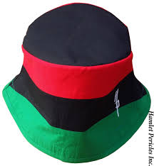 Black And Red Flag Country Pan African Flag Blacktop Bucket Hat Pan African Hat