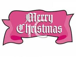 merry christmas banner pink background royalty free clipart
