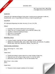 Mechanical Sample Resume by Experienced Mechanical Engineer Sample Resume Format With Summary