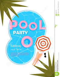 pool party poster vector illustration pool party invitation with
