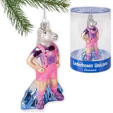 lederhosen unicorn ornament archie mcphee co