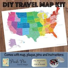 World Map Poster With Pins by Diy Colorful Us Push Pin Travel Map Kit Push Pin Travel Maps