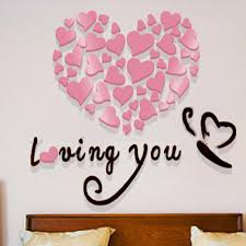 popular love couple wallpaper buy cheap love couple wallpaper lots loving couple warm 3d stereo acrylic wall stickers wallpaper living room entrance wall bedroom bedroom decorations