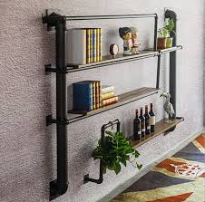 Bar Wall Shelves by Wall Shelves Industrial Wind Wall Pits Retro Water Pipe Partitions