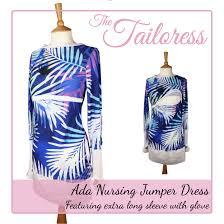 ada nursing maternity jumper dress with optional hood sewing