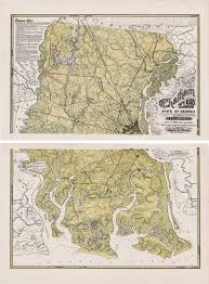 State Of Georgia Map by A Rare And Impressive Map Of Chatham County Georgia Rare