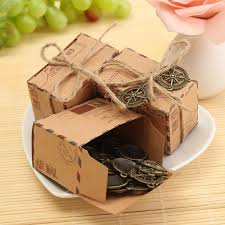 rustic wedding favors 50pcs kraft paper box airplane mail candy box rustic wedding