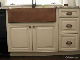 What Is The Standard Height Of Kitchen Cabinets by Preparing For A Farm Sink Deerfield Cabinets Com
