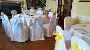 yellow chair covers wedding chair covers at the hemswell court blue and yellow