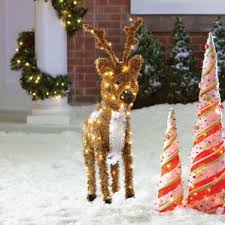 Lighted Reindeer Christmas Decoration Sale by Outdoor Christmas Decorations You U0027ll Love Wayfair