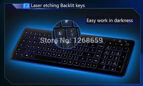 Light Up Wireless Keyboard L460s Computer Usb Intelligent Ultra Thin Wireless Backlight