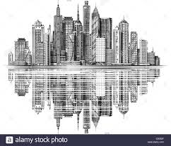 modern city skyline silhouette vector architecture and buildings