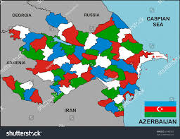 Georgia Country Map Political Map Azerbaijan Country Flag Stock Illustration 67488367
