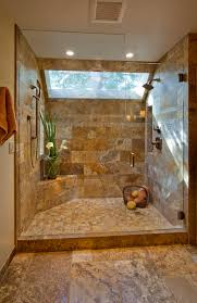Tile Wall Bathroom Design Ideas Travertine Shower I Really Like This Shower Home Decor