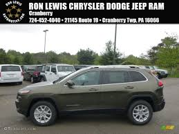 jeep green 2017 2014 eco green pearl jeep cherokee latitude 4x4 93605244