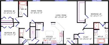 excellent rectangle house floor plans simple one story open plan