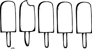 clipart ice cream black and white collection