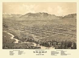Map Of Utah Cities by Historic Map Of Ogden City Utah 1875 Weber County Poster Utah