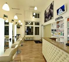 Small Hair Salon Modern Black Minimalist Hair Salon Design Layouts With Staircase And Black Drum