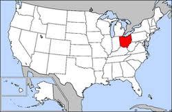 map usa ohio ohio high school athletic association