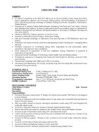 Sample Resume For 1 Year Experience In Manual Testing by Qa Sample Resume Cv Software Bug Software Development